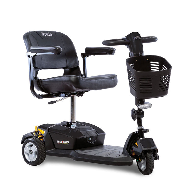 Pride Go Go LX with Comfort-Trac Suspension 3-Wheel Scooter Lightweight