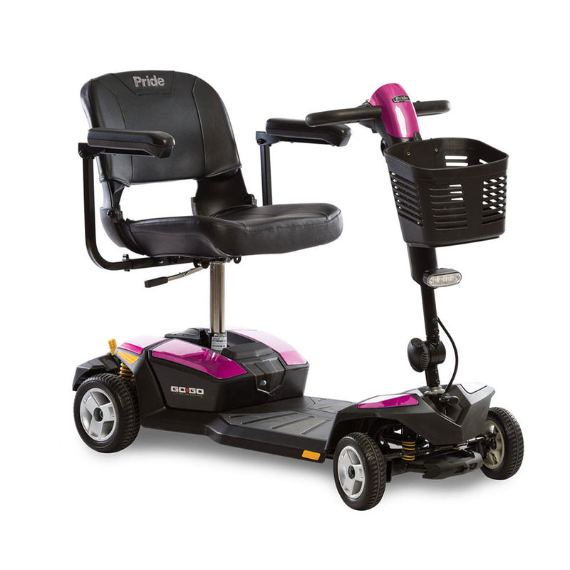 Pink Pride Mobility Go-Go LX 4-Wheel Mobility Scooter