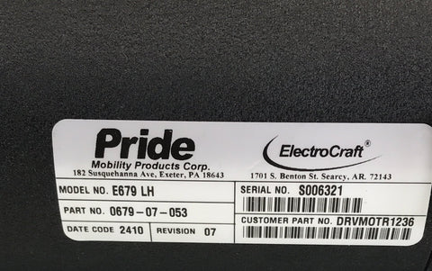 Pride Jazzy 1121 Electrocraft Left & Right Motors | DRVMOTR1236 | DRVMOTR1237