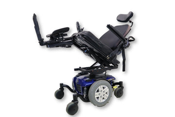 "Quantum Q6 Edge Electric Wheelchair | Seat Elevate | Tilt | Recline| Power Legs | 18"" x 20"" Seat"