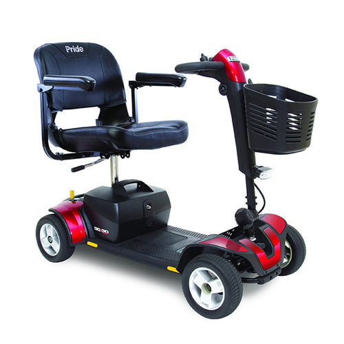 pride gogo sport red 4-wheel mobility scooter