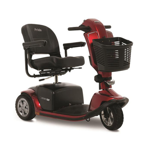 red 3-wheel full size scooter