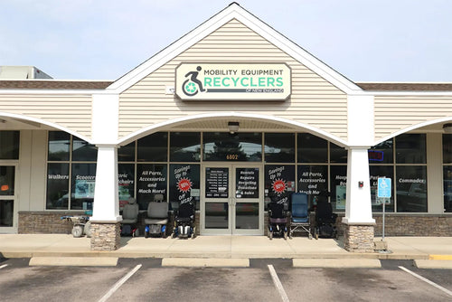 mobility equipment reclycers storefront