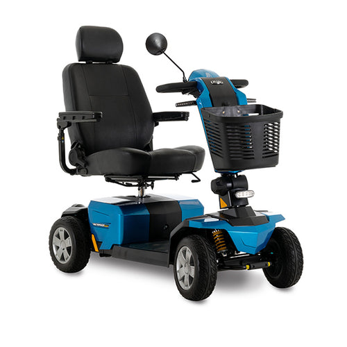 pride victory lx sport 4-wheel blue mobility scooter