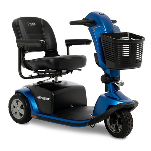 pride victory blue 3-wheel mobility scooter
