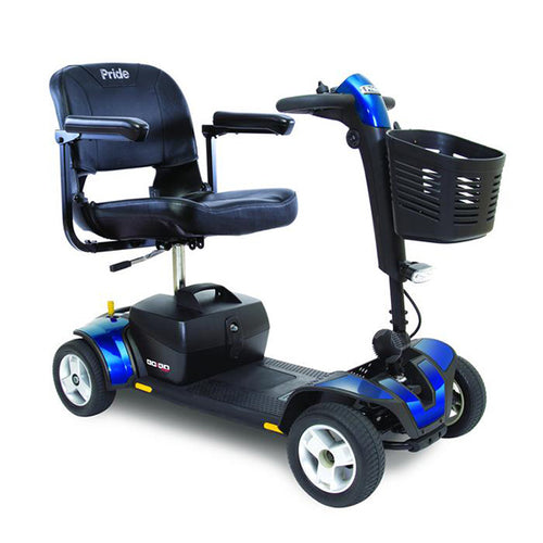 blue 4-wheel portable scooter