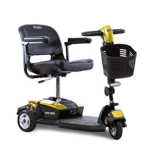 yellow 3-wheel portable scooter
