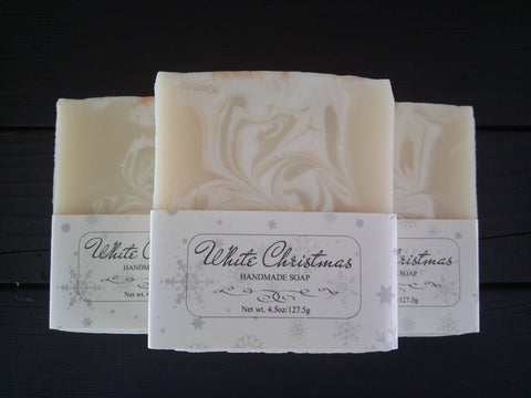 White Christmas Scented Body Soap
