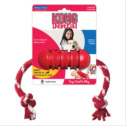 Kong Canine Dental Toy with Rope