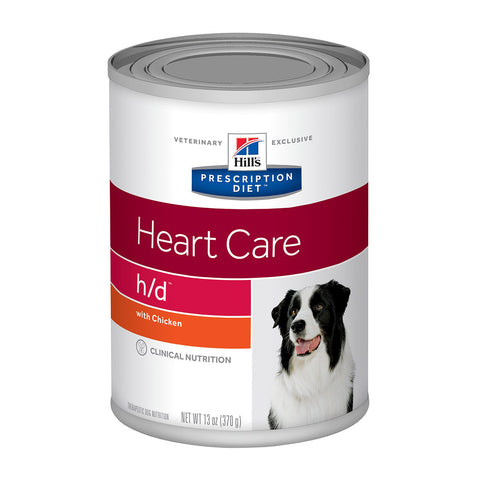 Hill's Canine H/D (Heart Care) - 12 x 370gm cans