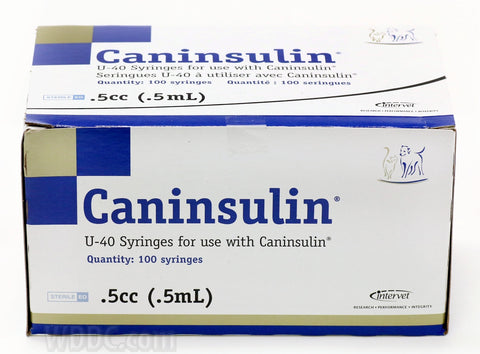 Caninsulin Insulin Syringe 40 IU 0.5 ml 29 g x 1/2 inch - 100's