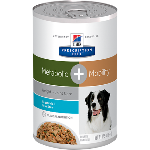Hills Canine Metabolic + Mobility Vegetable & Tuna Stew - Case