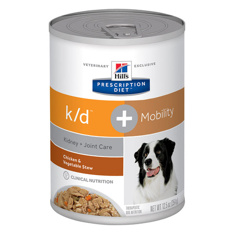 Hill's Canine K/D + Mobility Chicken & Veggie Stew - 12 x 12.5oz Cans