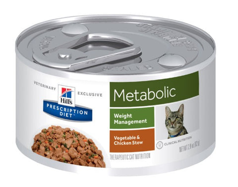 Hill's Feline Metabolic Chicken & Vegetable Stew - Case
