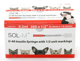 Insulin Syringe SOL-M U40 - Various Needle Sizes