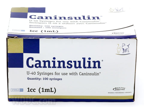 Caninsulin Insulin Syringe 40iu/ml 1.0 ml 28g x 1/2in -100's (SU 20)