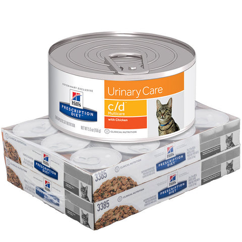 Hill's Feline C/D Multi-Care Cans Chicken - Case
