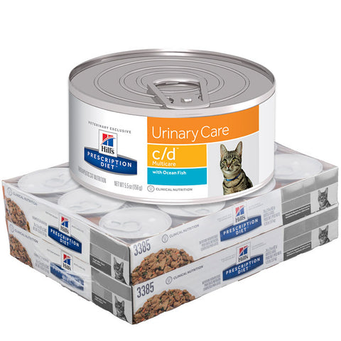 Hills Feline C/D Multi-Care Cans Ocean Fish - Case