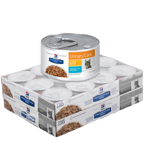 Hill's Feline C/D Multi-Care Cans Tuna and Rice Stew - Case