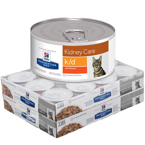 Hill's Feline K/D Cans Minced Chicken - Case