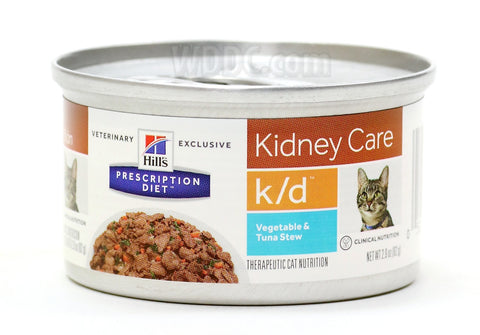 Hills Feline K/D Cans Vegetable, Tuna, and Rice Stew - Case