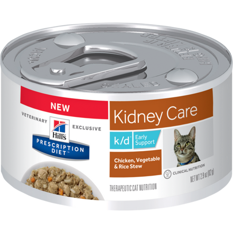Hills Feline k/d Early Support Chicken, Vegetable & Rice Stew - Case