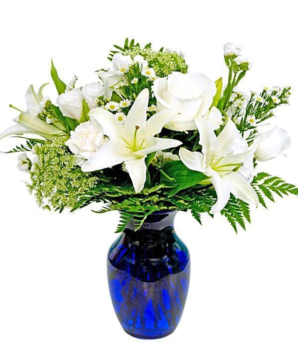 Classic White Bouquet - Fineflora Flowers