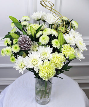 White Christmas Bouquet - Fineflora Flowers