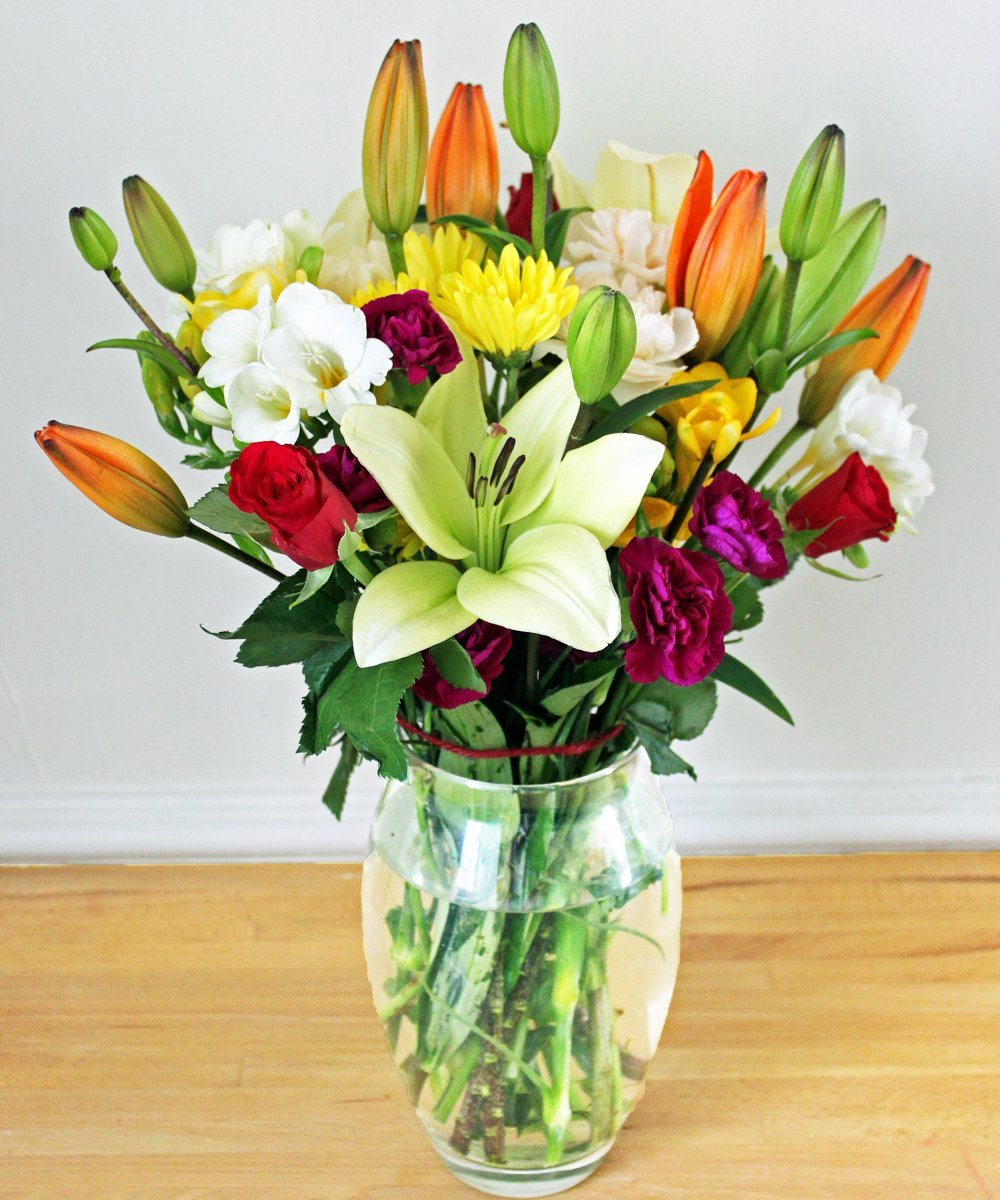 Colourful Bright Bouquet - Fineflora Flowers