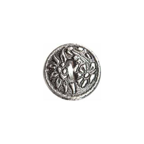 Pewter Flowers  (3pk)- 15mm