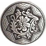 Silver Floral  (3pk)- 12mm