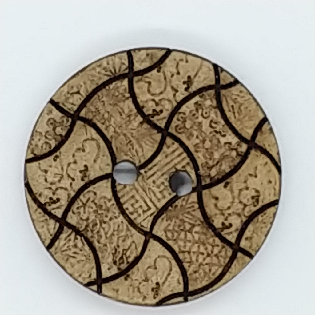Patterned Coconut- (2pk)- 25 mm
