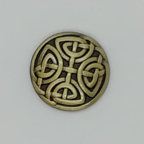 Antique Bronze Knot Design (2pk)- 17mm