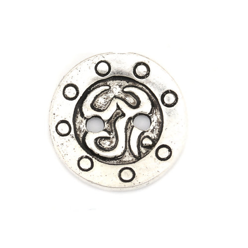 Antique Silver Symbol (4pk)- 16mm