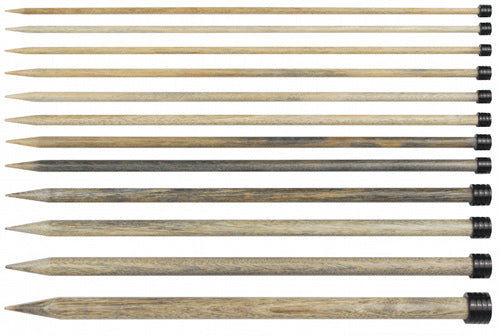 Lykke Wood Straight Needles - Driftwood - 14 inch
