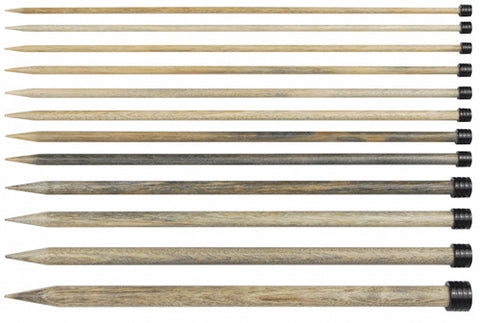 Driftwood Wooden Needles - 14 inch Straight
