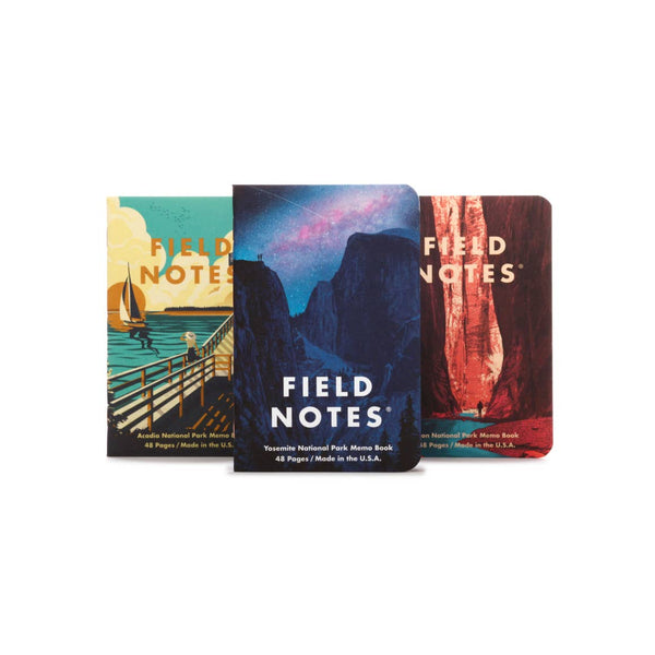 Field Notes National Park Series Memo Books - National Park Life