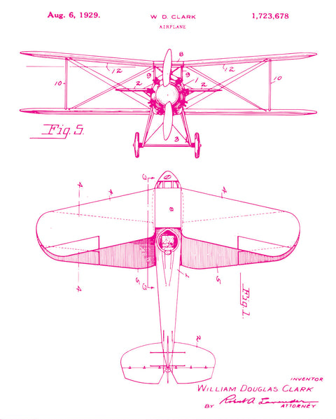 Biplane Patent Poster | Airplane Patent Art | Blueprint Art | Patent Wall Art | Aircraft Patent Print | Patent Art | Home Decor - National Park Life