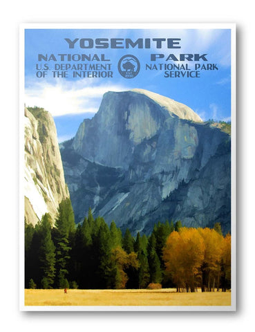 Yosemite National Park Poster (Half Dome) - National Park Life