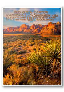 Red Rock Canyon National Conservation Area Poster - National Park Life