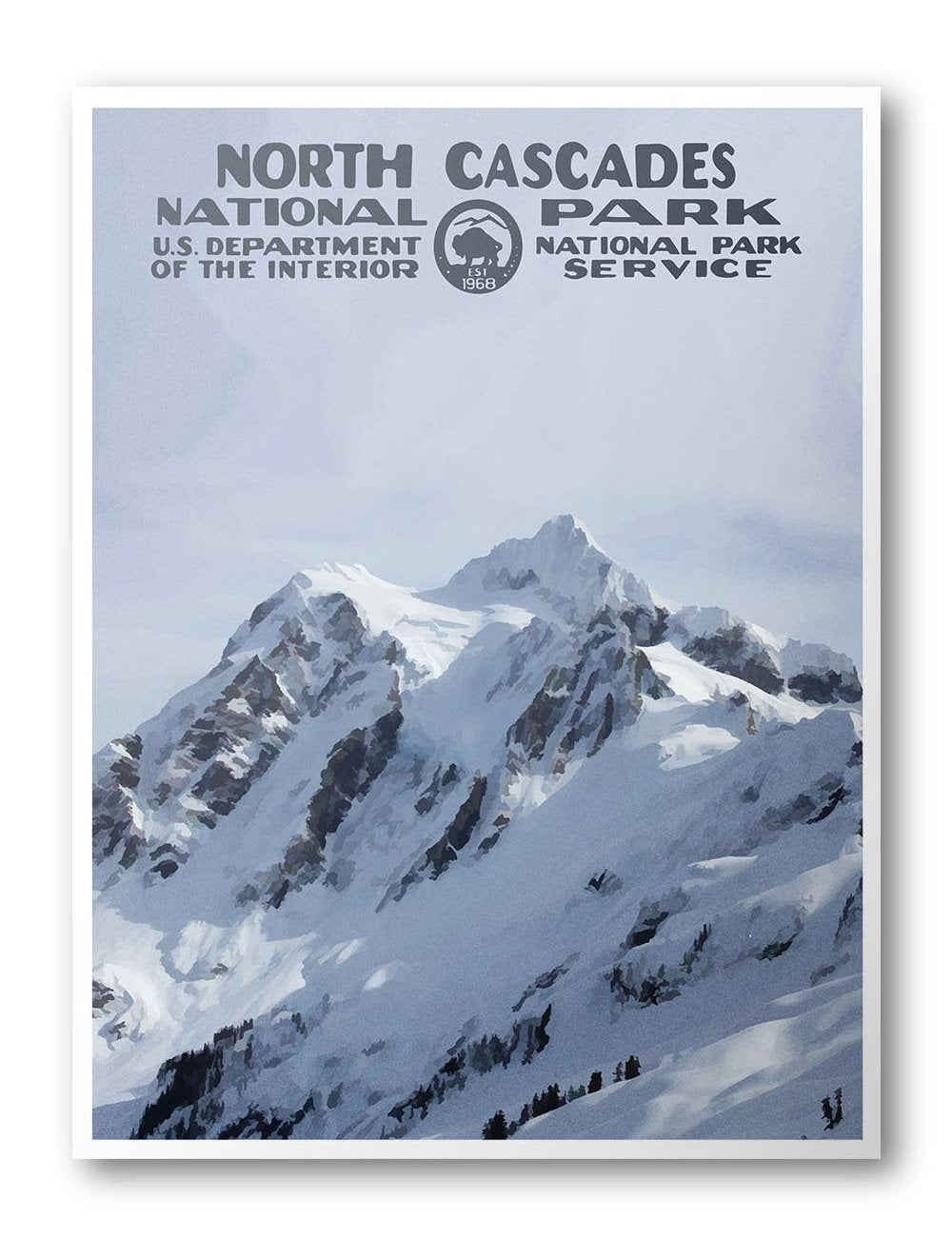 North Cascades National Park Poster (Mount Shuksan) - National Park Life
