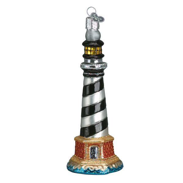 Cape Hatteras Lighthouse Glass Blown Ornament (Cape Hatteras National Seashore) - National Park Life