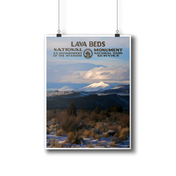 Lava Beds National Monument Poster - National Park Life