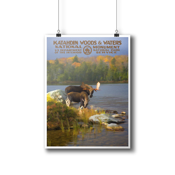 Katahdin Woods & Waters National Monument Poster - National Park Life