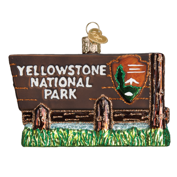 Yellowstone National Park Christmas Ornament | Glass Blown - National Park Life
