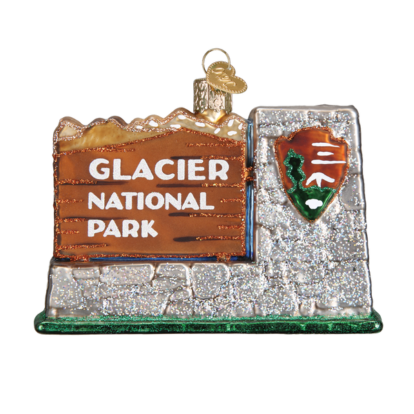 Glacier National Park  Christmas Ornament | Glass Blown - National Park Life