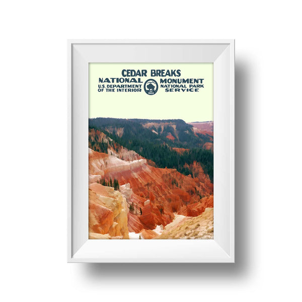 Cedar Breaks National Monument Poster - National Park Life