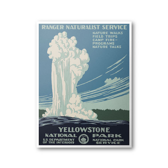 Yellowstone National Park Poster (WPA Reproduction) - National Park Life