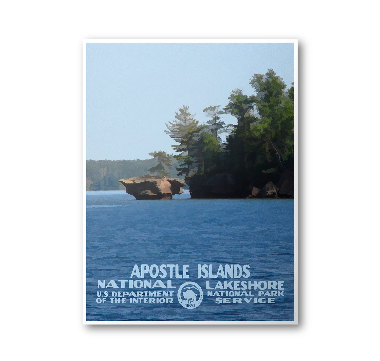 Apostle Islands National Lakeshore Poster - National Park Life