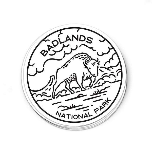 Badlands National Park Sticker | National Park Decal - National Park Life